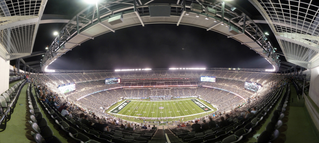 NY Jets - MetLife Stadium 50 yard line at night