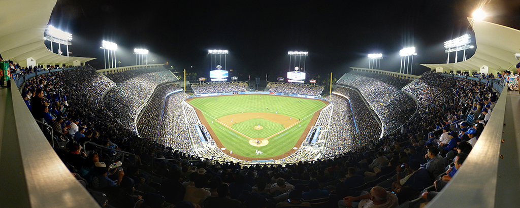 Dodger Stadium Panorama - Los Angeles Dodgers - Top Deck