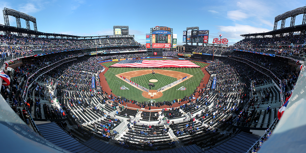 Citi Field Panorama - New York Mets Opening Day National Anthem