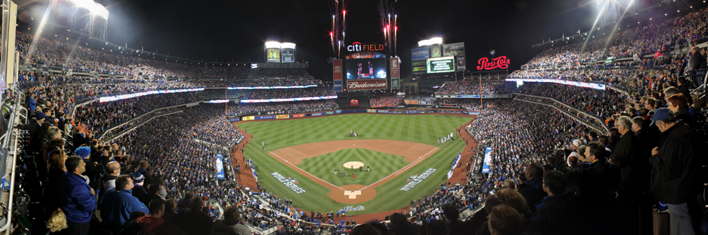 Citi Field Panorama - New York Mets World Series National Anthem
